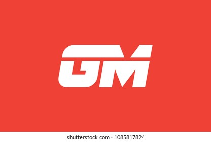 GM MG Letter Initial Logo Design Template