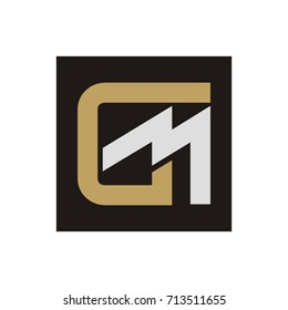 GM or MG letter logo design template vector