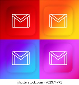 Gmail four color gradient app icon set