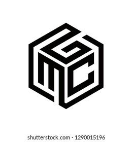 gmc logo design , initial logo , geometric , vector , icon