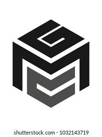 GMC logo initial letter design template vector