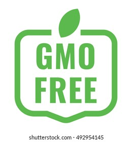 Gmo free badge, logo, icon. Flat vector illustration on white background. Can be used business company.