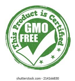 Gmo free grunge rubber stamp on white background, vector illustration