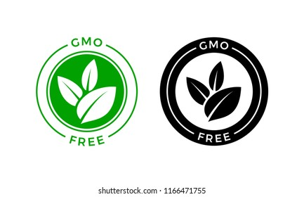 Gmo Free Label Dna Vector Icon Stock Vector Royalty Free