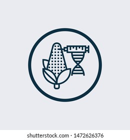 gmo icon isolated on white background from science collection. gmo icon trendy and modern gmo symbol for logo, web, app,