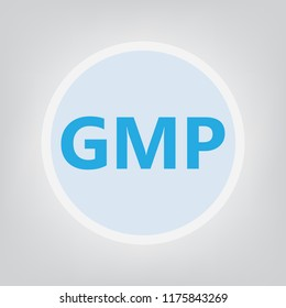 GMP (Good Manufacturing Practice) acronym- vector illustration