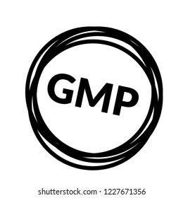 GMP (Good Manufacturing Practice) icon,emblem, label, badge,sticker, logo. Designed for your web site design, logo, app, UI