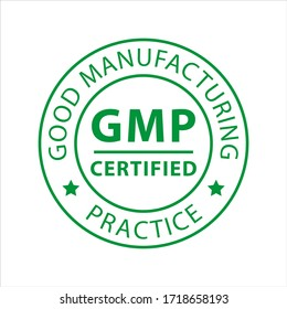 GMP - Good manufacturing practice vector stamp on white background