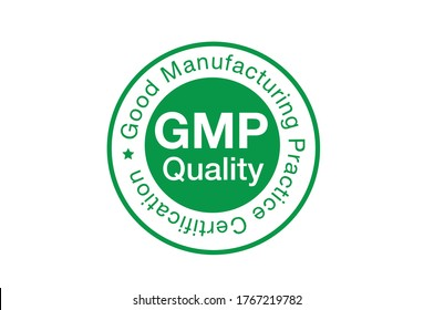 GMP quality certificate vector illustration isolated on white background