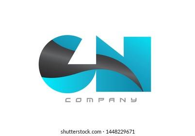 GN G N blue black alphabet combination letter logo design suitable for a company or business