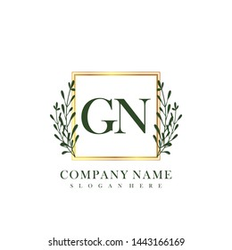 GN Initial beauty floral logo template