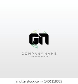 GN initial letter abstract logo design vector.