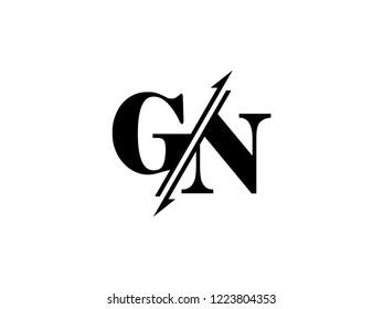 GN initials logo sliced