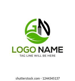 GN Letter Logo Design Vector Illustration