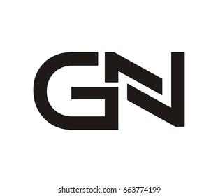 GN letter logo template