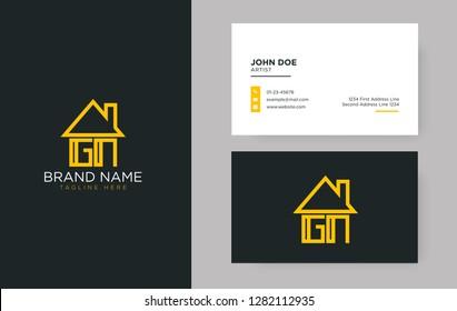 GN Letter Real Estate Logo Design - Real estate logo
