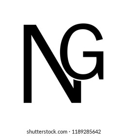 gn letter vector logo