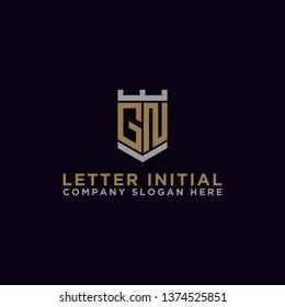 GN letters Initial icon / Monogram.- Vector inspiration logo design - Vector
