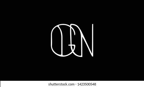 GN logo design template vector illustration