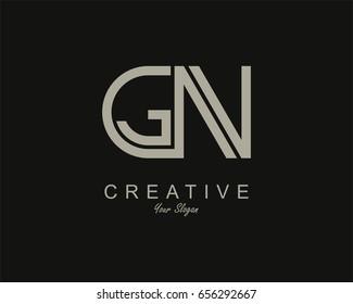 GN Logo. Letter design vector
