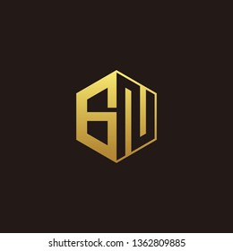 GN Logo Monogram with Negative space gold colors
