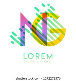 GN logo with the theme of galaxy speed and style that is suitable for creative and business industries. NG Letter Logo design for all webpage media and mobile, simple, modern and colorful