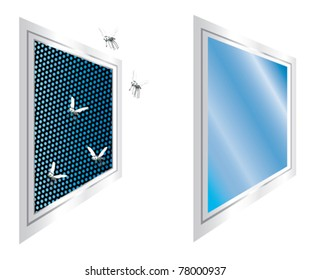 Windows Fly Screen Stock Illustrations, Images & Vectors