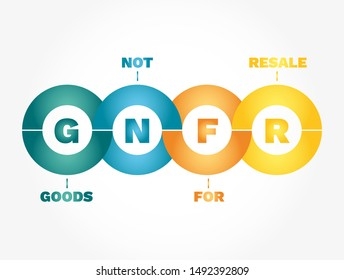 GNFR Infographics - Goods Not For Resale, concept acronym