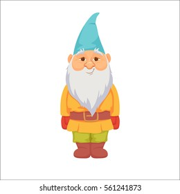 Gnomes. Funny dwarf. Fairy tale. Fantastic character set. Magical stories vector clip art.  Cute garden decorations