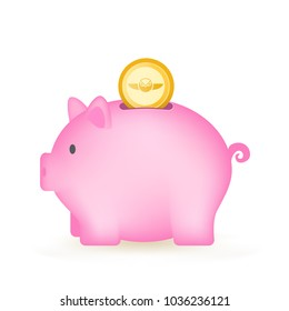 Gnosis Coin Cryptocurrency Piggy Bank