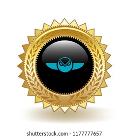 Gnosis Cryptocurrency Coin Gold Badge Medal Award