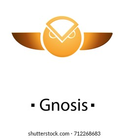 Gnosis cryptocurrency golden icon. Vector illustration isolated on white background.