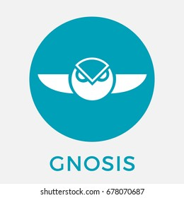 Gnosis (GNO) crypto currency coin icon for apps and websites.