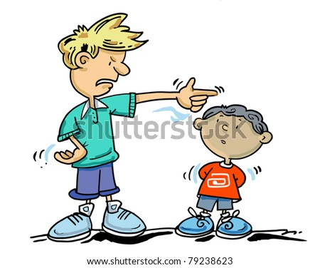 go away small boy older boy stock vector royalty free 79238623