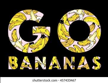 Go Bananas Print or Screen t-shirt design
