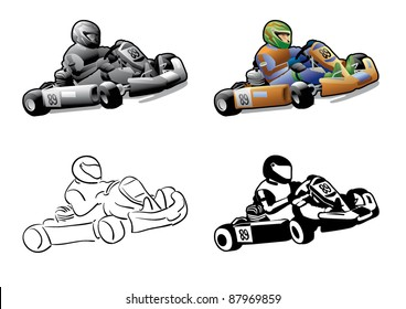 go cart karting racing race