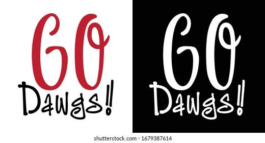 Go Dawgs Printable Vector Illustration