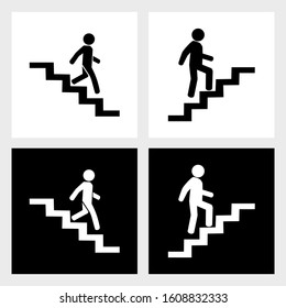 go up and down stairs icon