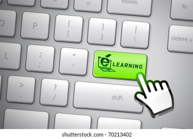 Go e-learning click. The whole keyboard is available behind the clipping path.