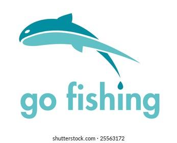 Go Fishing Themed Vector Design Element