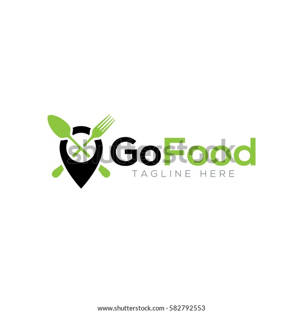 Modern Delivery Logo Template: Go Food Logo Design Stock Vector (Royalty Free) 582792553