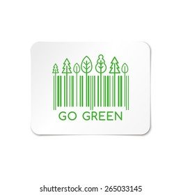 Go Green, barcode stickers