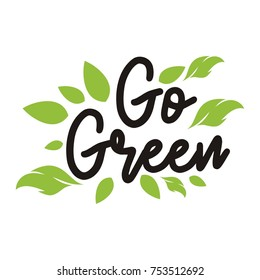 Go Green campaign education poster