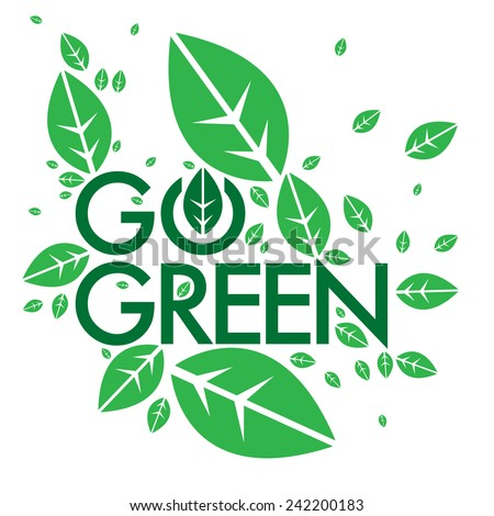 go green campaign education poster stock vector royalty free