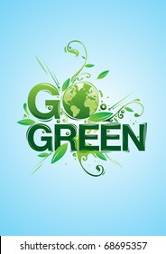 Go Green campaign poster