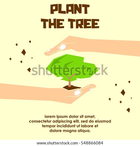 Go Green Campaign Poster Plant Tree Stock Vector (Royalty ...