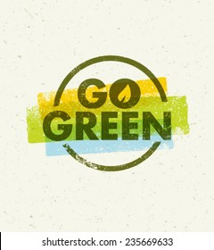 Go Green Creative Eco Vector Design Element
