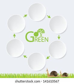 Go green. Design Template. Diagram vector illustration.