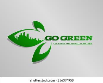 vectores imagenes y arte vectorial de stock sobre go green tree