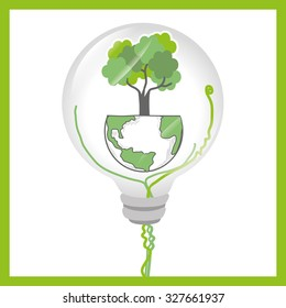 Go green and ecology design, vector illustration graphic
